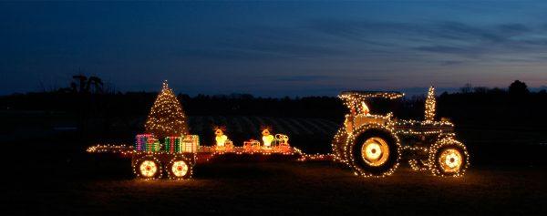 Christmas Hay Ride Lights