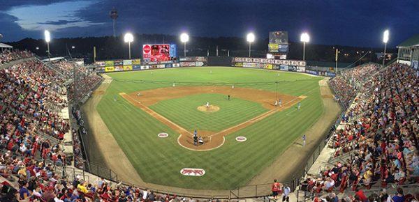 baseball game panoramic