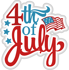 illustrated fourth of july graphic